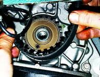 Техническое обслуживание, снятие и установка зубчатого ремня привода распределительного вала
